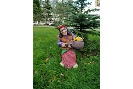 Фигура Баба яга с кашпо  - интернет-магазин Крассула