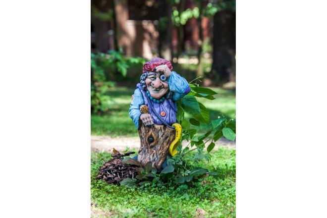 Фигура Баба-Яга с веником  - интернет-магазин Крассула