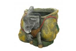 Зоокашпо Ослик с мешком (цветной)