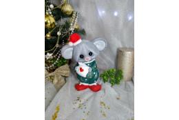 Фигура Мышка Соня новогодняя