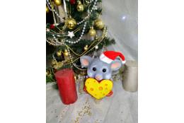 Фигура Мышка  Сырцеедка новогодняя