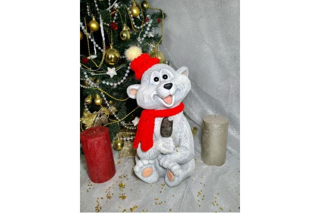 Фигура  Белый  мишка  Сластена - интернет-магазин Крассула