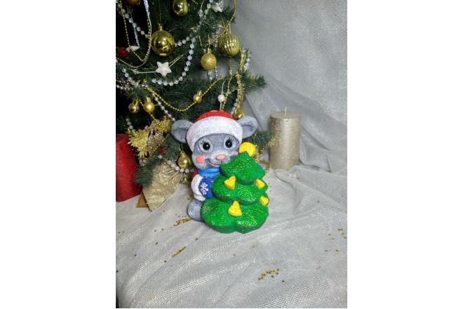 Фигура  Мышка с ёлкой  - интернет-магазин Крассула