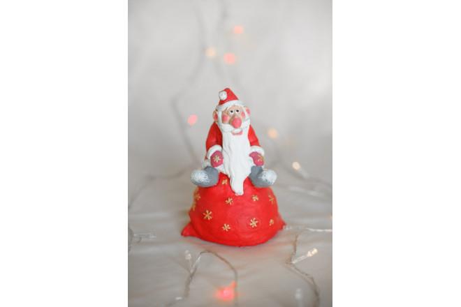 Фигура Дед Мороз на мешке - интернет-магазин Крассула