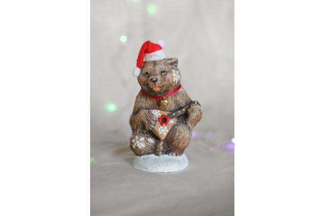 Фигура Медведь с балалайкой новогодний - интернет-магазин Крассула