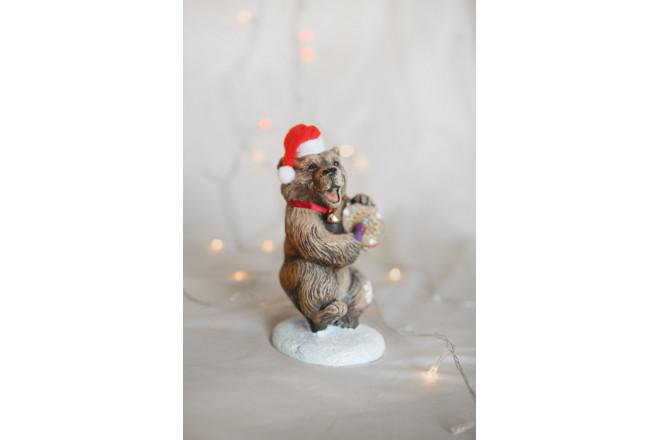 Фигура Медведь с бубном новогодний - интернет-магазин Крассула