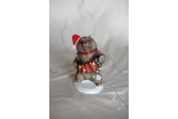 Фигура Медведь с гармошкой новогодний