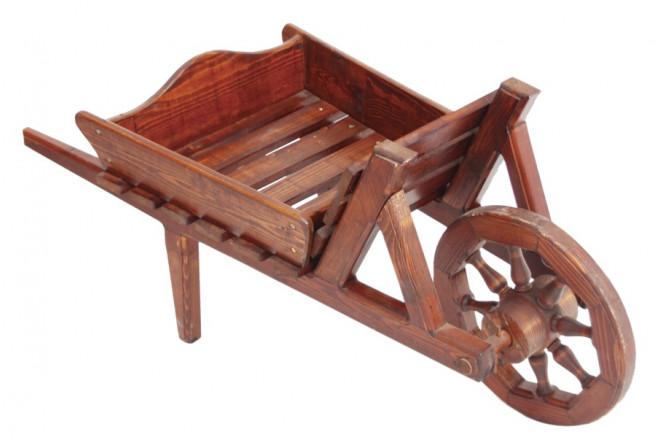 Тачка деревянная - интернет-магазин Крассула