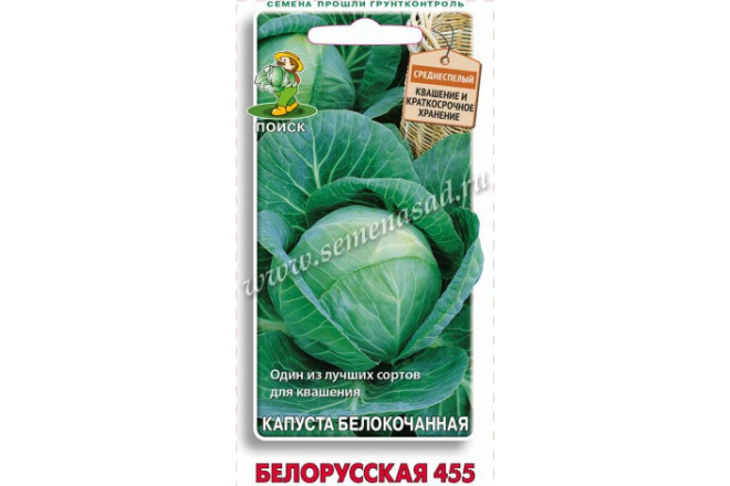 Капуста белокочанная Белорусская 455 - интернет-магазин Крассула