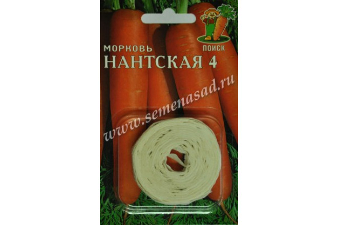 Морковь Нантская 4 (Лента) - интернет-магазин Крассула